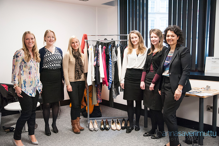 The girls with Sharon and Katie, before their styling session.