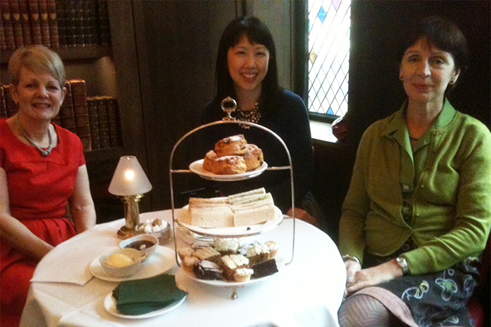Afternoon tea at The Club at The Ivy with Maggie Semple