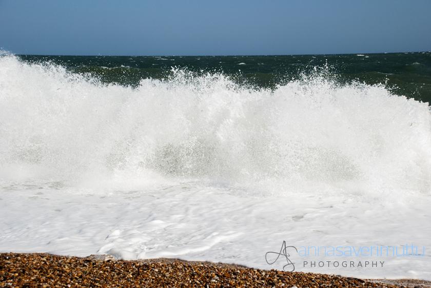 Waves at Slapton Sands, Devon