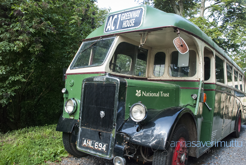 bus to Greenway, Agatha Christie's holiday home, Devon