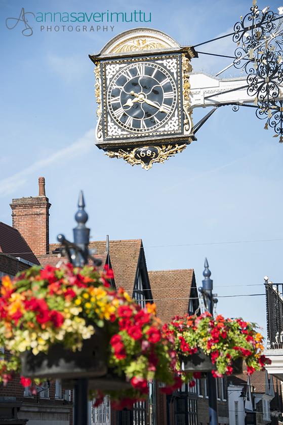 Guildford High Street & Clock