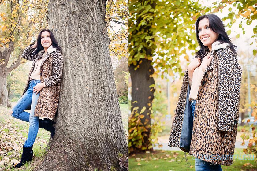 fifibaggins models Antipodium leopard print coat and Emma Manley shirt