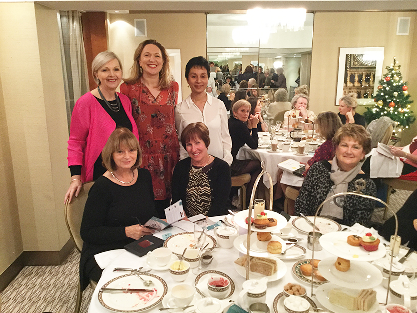 Look Fabulous Forever Downton Abbey inspired afternoon tea with Tricia Cusden and Jessica Fellowes at the Athenaeum Hotel, Piccadilly